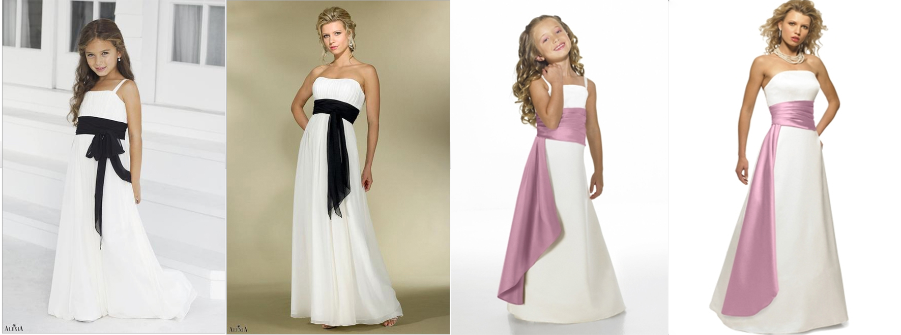 Four bridesmaid dress trends for 2015 alexia designs uk matching junior bridesmaid dresses ombrellifo Images