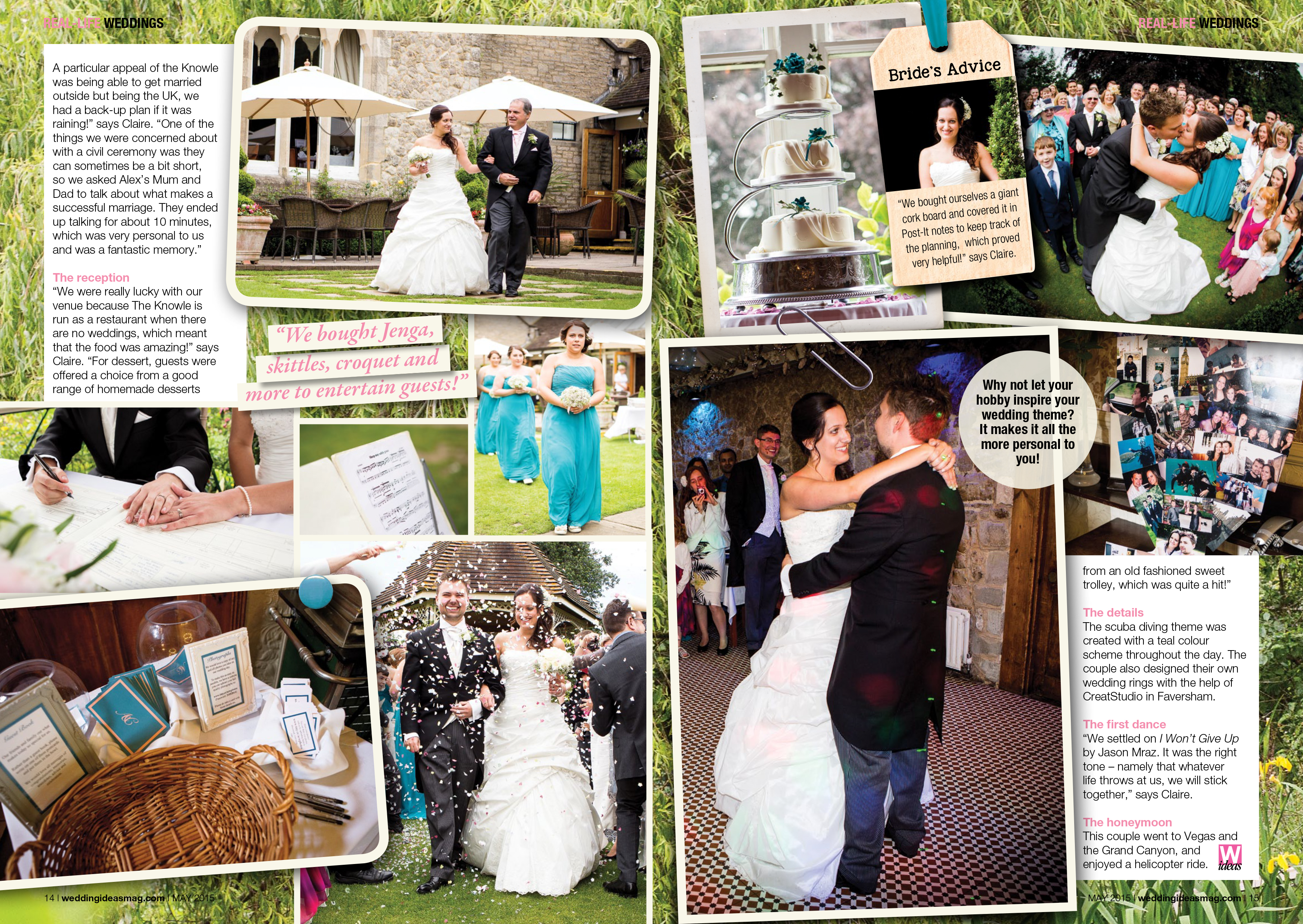Real Brides Pages In Wedding Ideas Magazine May 2015